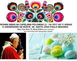 Zmiana Daty Mszy Świętej w Sao Paulo