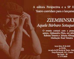 """Premiera Książki """"Ziembinski – Aquele Bárbaro Sotaque Polonês"""" w Sao Paulo"""
